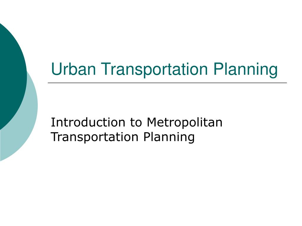 urban transportation planning l.
