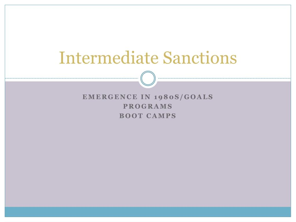 intermediate sanctions l.