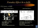 faraday effect in n insb