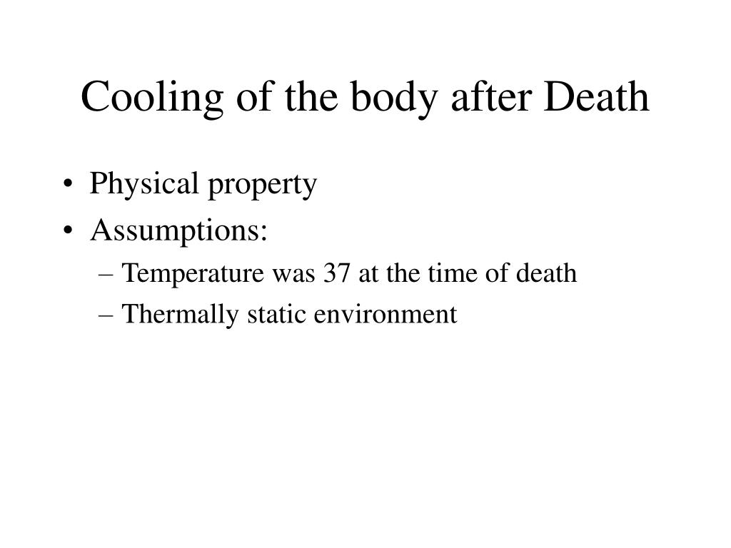 Cooling of the body after Death