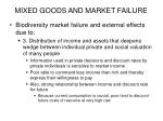 mixed goods and market failure29