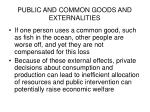 public and common goods and externalities16