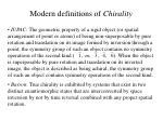 modern definitions of chirality