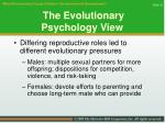 the evolutionary psychology view