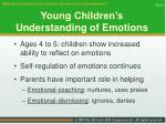 young children s understanding of emotions