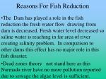 reasons for fish reduction