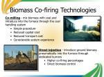 biomass co firing technologies