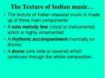 the texture of indian music