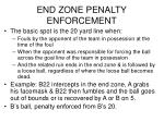 end zone penalty enforcement