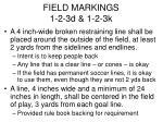 field markings 1 2 3d 1 2 3k