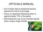 officials manual