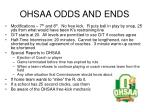 ohsaa odds and ends