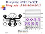 dual plane intake manifold firing order of 1 8 4 3 6 5 7 256