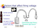 factors that affect firing voltage29