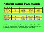 nascar caution flags example