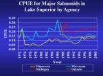 cpue for major salmonids in lake superior by agency