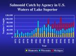 salmonid catch by agency in u s waters of lake superior