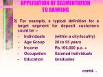 application of segmentation to banking71