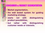 consumer market segmentation69