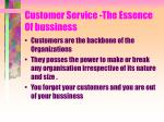 customer service the essence of bussiness