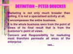 definition peter drucker