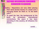 factors influencing consumer behaviour in banking27