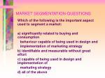 market segmentation questions86