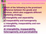 marketing mix bank marketing questions93