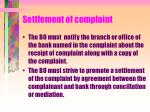 settlement of complaint