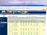 sample project health views