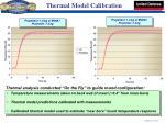 thermal model calibration