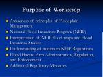 purpose of workshop