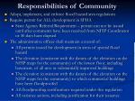 responsibilities of community