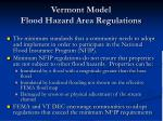 vermont model flood hazard area regulations