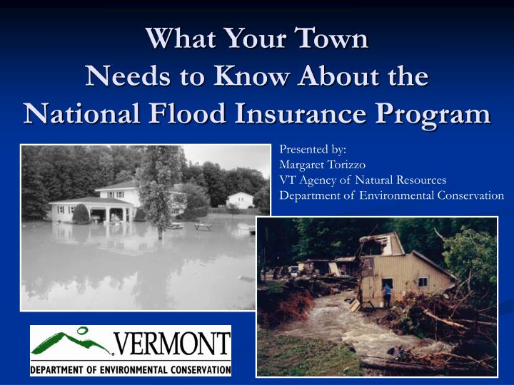 what your town needs to know about the national flood insurance program n.