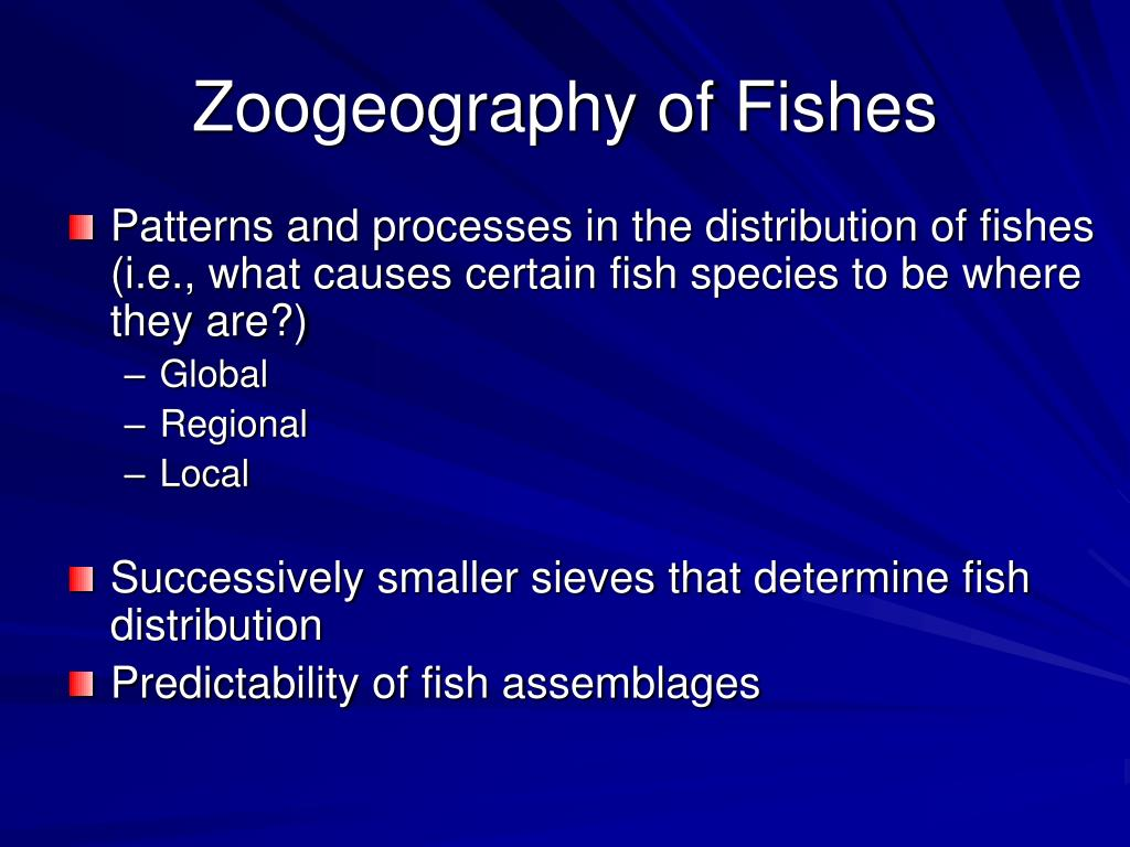 zoogeography of fishes l.
