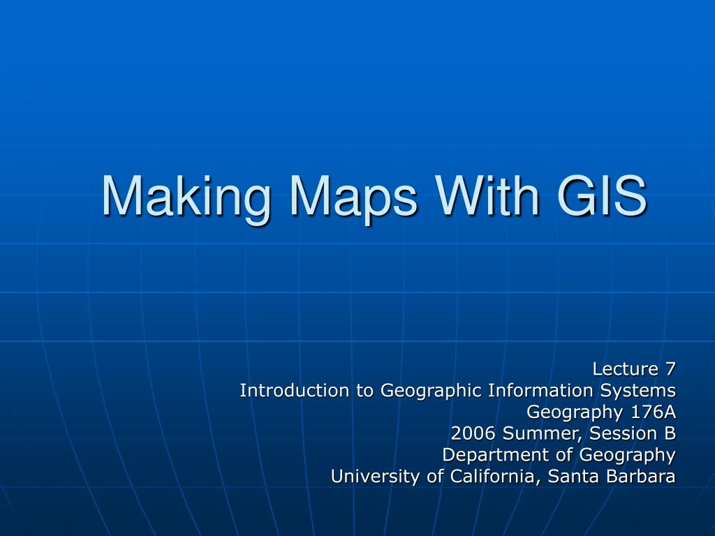 making maps with gis l.