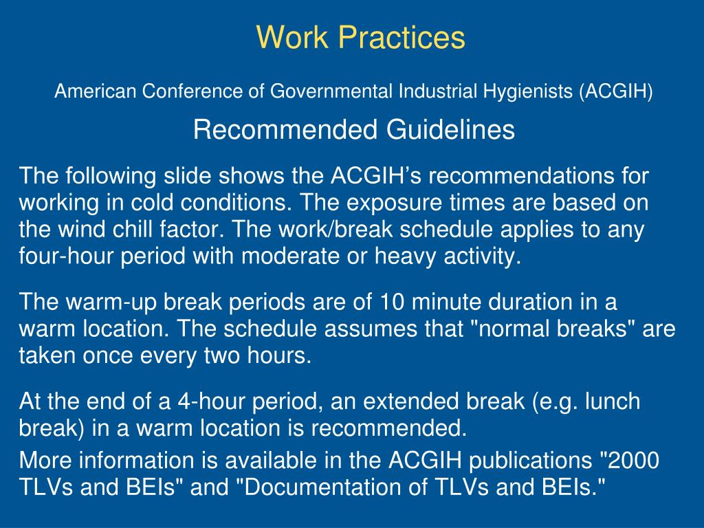 American Conference of Governmental Industrial Hygienists (ACGIH)