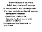 interventions to improve adult vaccination coverage