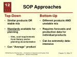 sop approaches