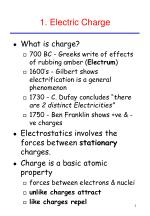 1 electric charge