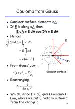 coulomb from gauss