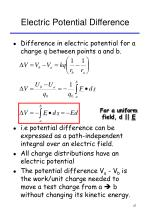 electric potential difference