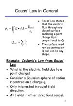 gauss law in general
