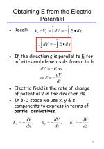 obtaining e from the electric potential
