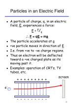 particles in an electric field