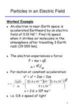 particles in an electric field22
