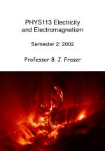 phys113 electricity and electromagnetism semester 2 2002