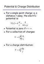 potential charge distribution