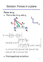 solution forces in a plane8